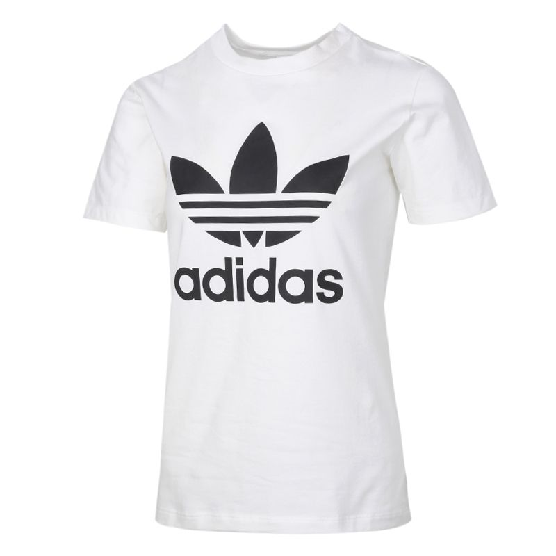 阿迪达斯三叶草ADIDAS 女装 2021春季新款运动半袖纯棉T恤短袖T恤 GN2899