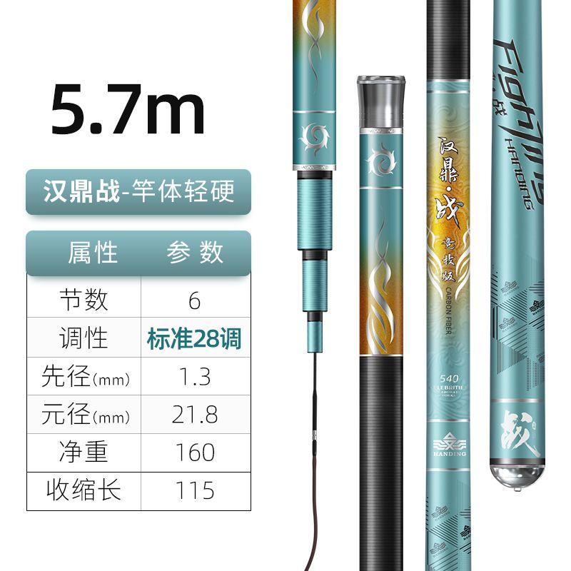 汉鼎战5.7米【综合性强,攻各水域中大型鱼】