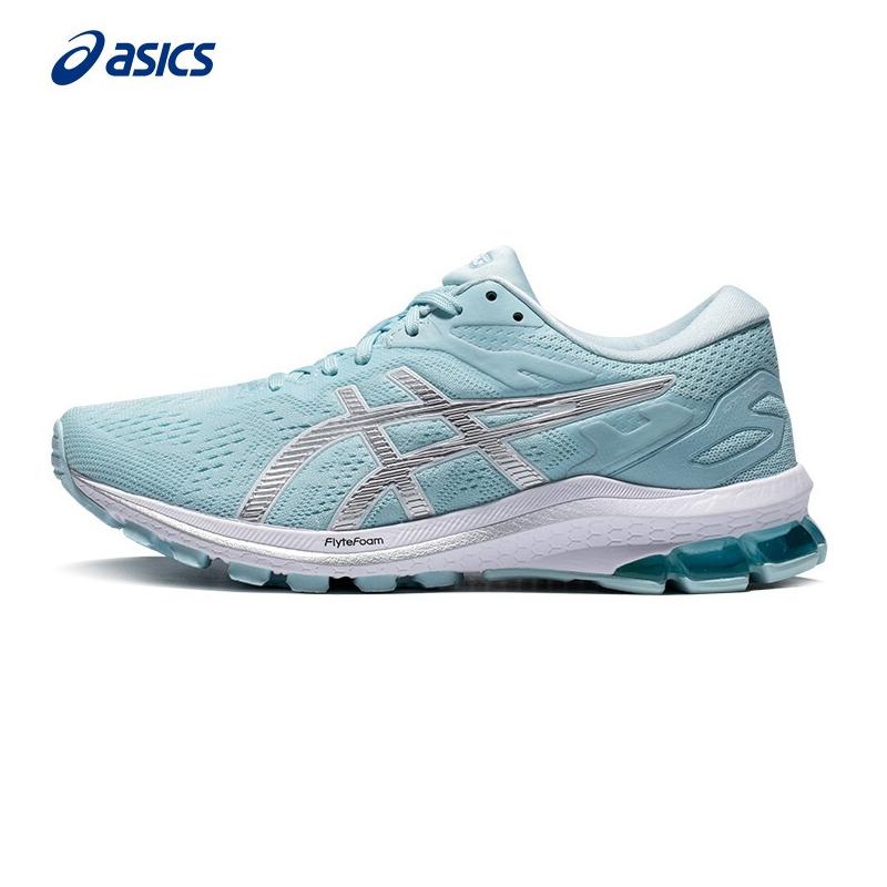 亚瑟士ASICS 女鞋 2021春季新款运动鞋GT-1000稳定避震透气跑步鞋 1012A878-403