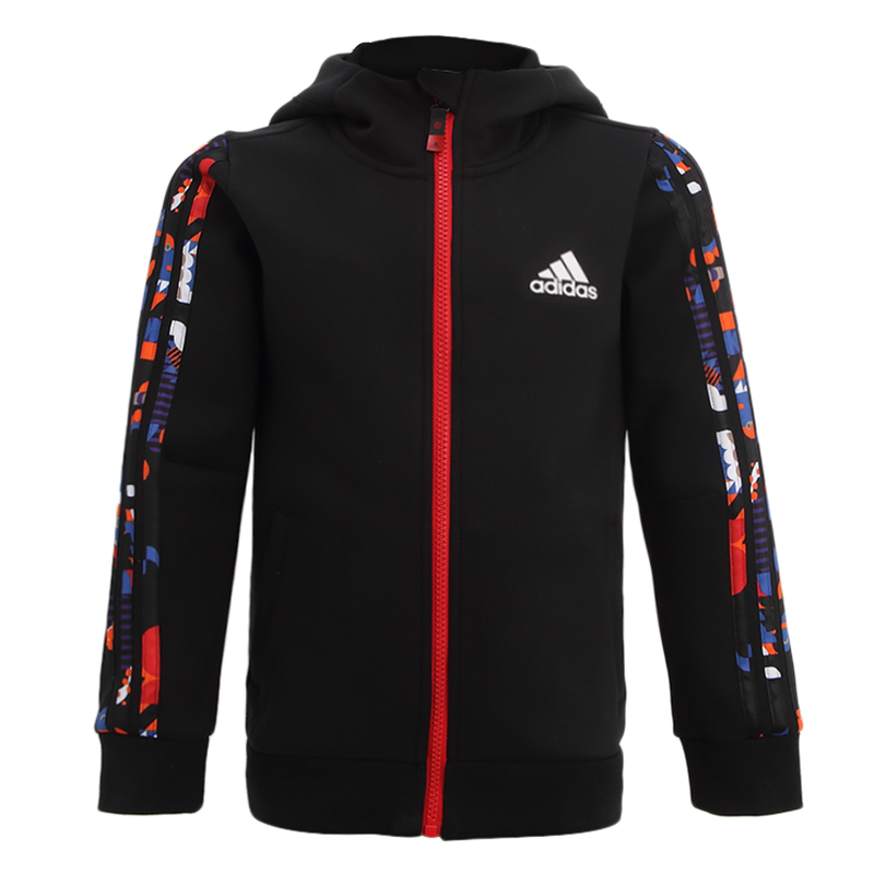 阿迪达斯ADIDAS 儿童 2021春季新款运动服跑步训练健身透气舒适防风休闲外套夹克 GP0538