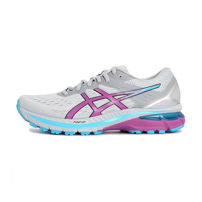 亚瑟士ASICS 女鞋 2021春季新款运动稳定支撑跑步鞋耐磨舒适透气轻便跑鞋 1012A859-022