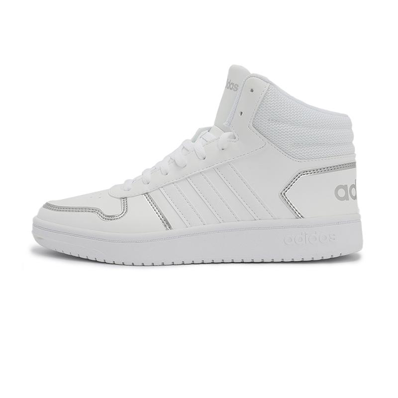 阿迪达斯生活Adidas NEO 女鞋 2021春季新款运鞋HOOPS 2.0休闲板鞋 FY6023