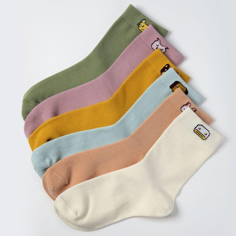 TOURMARK 女款  萌趣动物系列中筒袜子  T39202-90