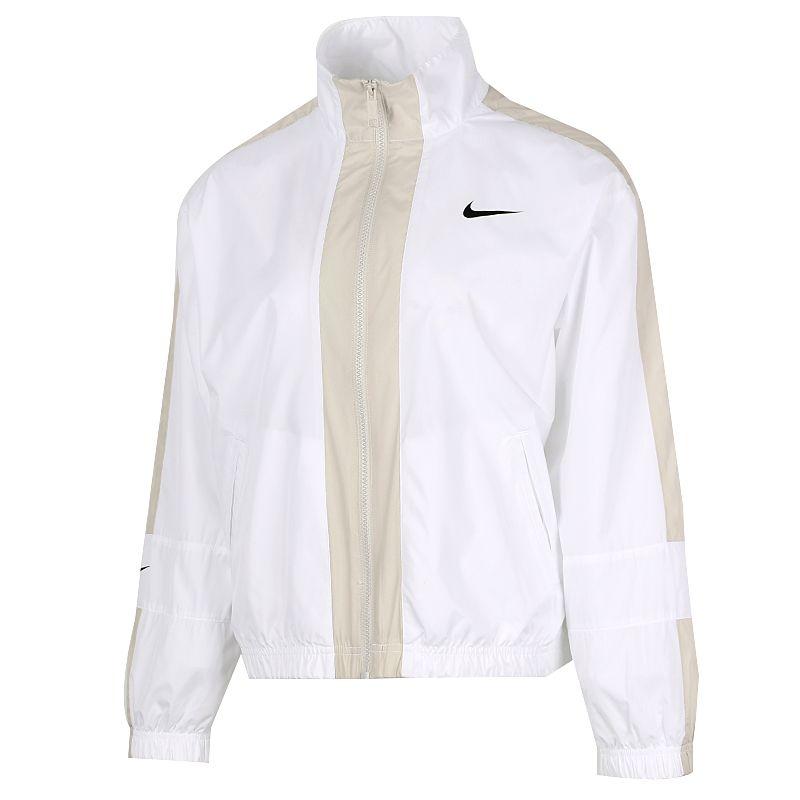 耐克NIKE 女装 2021春季新款运动跑步训练健身户外防风休闲立领透气舒适外套梭织夹克 CZ8801-100