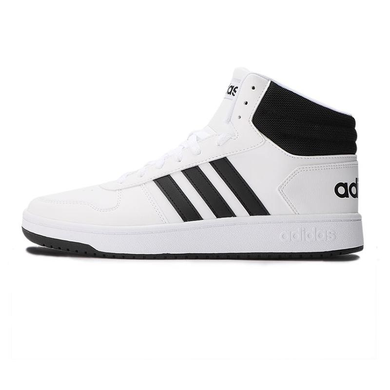 阿迪达斯生活Adidas NEO 男鞋 HOOPS 2.0 MID 休闲板鞋 FY8617