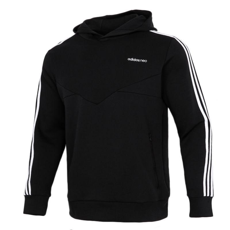 阿迪达斯生活Adidas NEO 男装 2021春季新款跑步透气休闲运动连帽卫衣 GQ2868