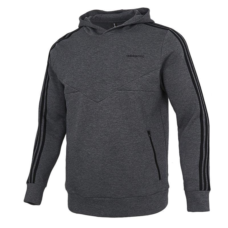 阿迪达斯生活Adidas NEO 男装 2021春季新款跑步透气休闲运动连帽卫衣 GQ2869
