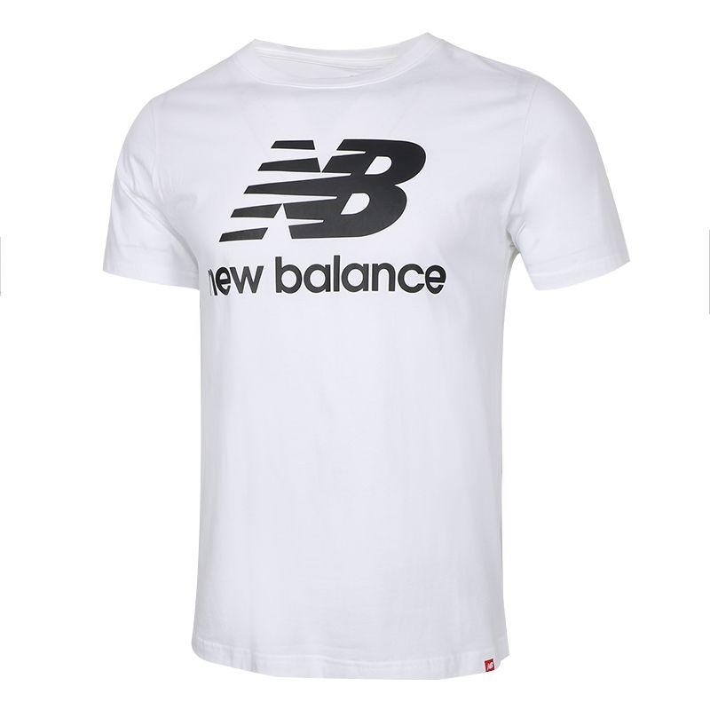 NEW BALANCE 男装 2021春季新款运动服跑步训练透气休闲圆领短袖T桖 AMT01575-WT