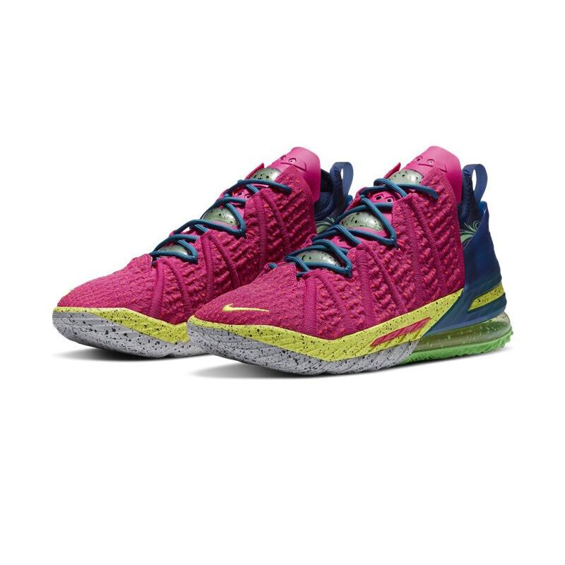 耐克NIKE 男鞋 2021新款洛杉矶之夜LEBRON XVIII EP詹姆斯18篮球鞋 DB7644-600
