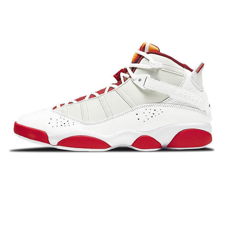 耐克NIKE 男鞋 2021春季新款白红兔八哥JORDAN 6 RINGS V2六冠王篮球鞋 DD5077-105