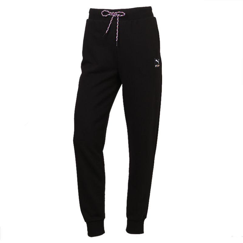 彪马PUMA 女装 2021春季新款运动跑步训练健身舒适透气休闲运动针织长裤 531355-01
