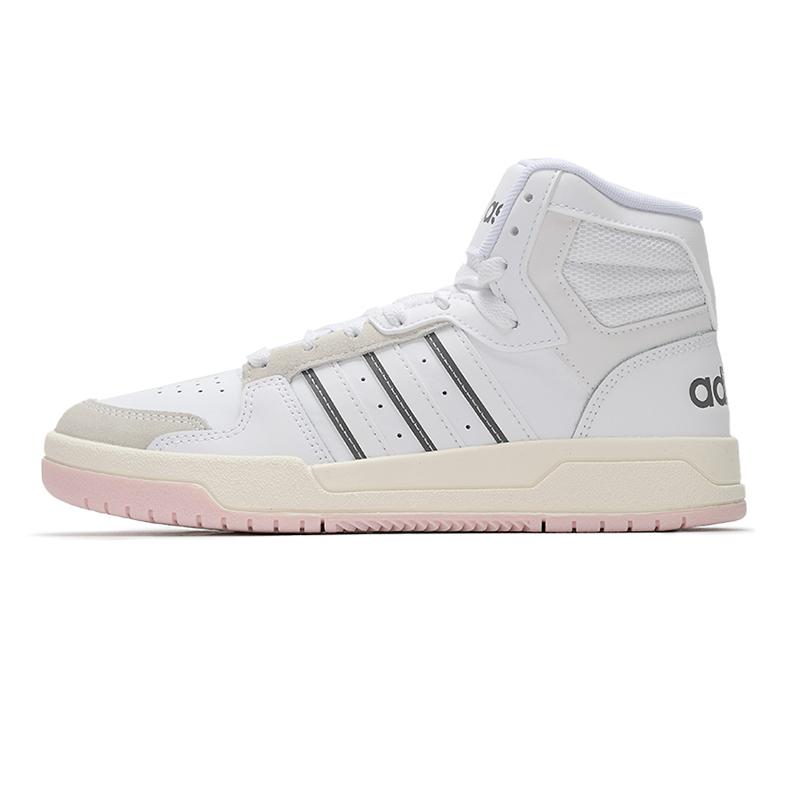 阿迪达斯生活Adidas NEO 女鞋 新品ENTRAP MID中高帮情侣运动休闲板鞋 H01229
