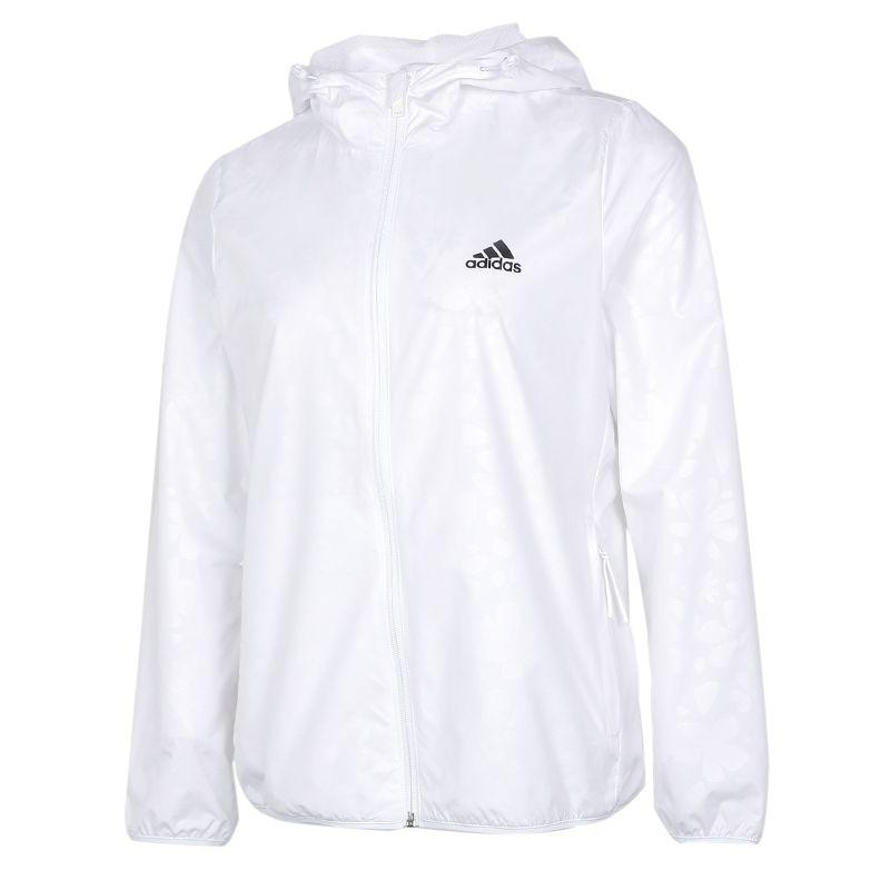 阿迪达斯ADIDAS 女装 2021春季新品运动跑步训练健身透气舒适防风快干休闲梭织夹克 GQ0615