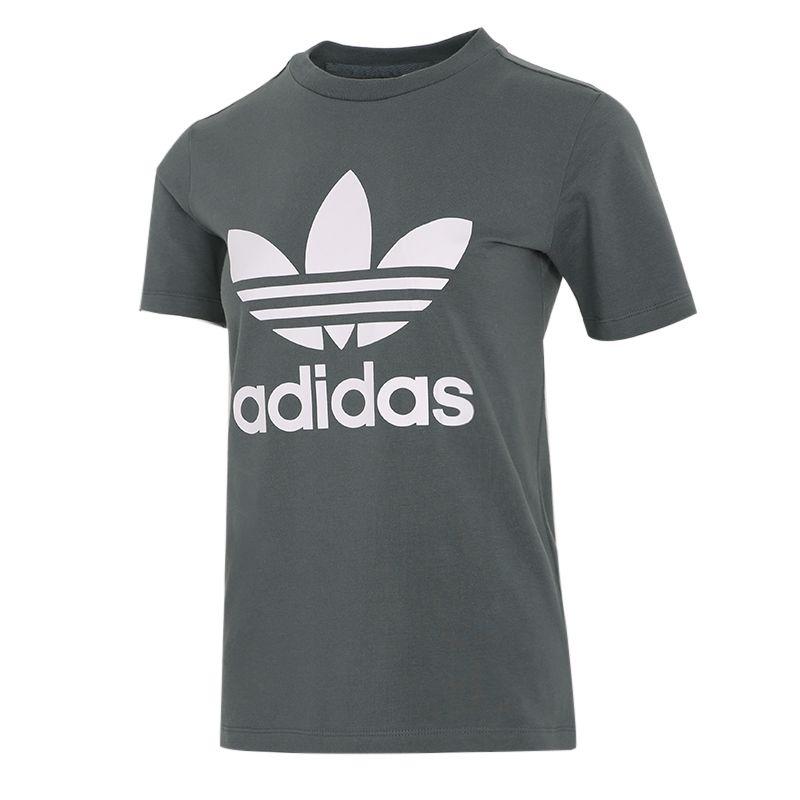 阿迪达斯三叶草ADIDAS 女装 2021春季新品跑步训练运动服时尚宽松休闲短袖T恤 GN2903