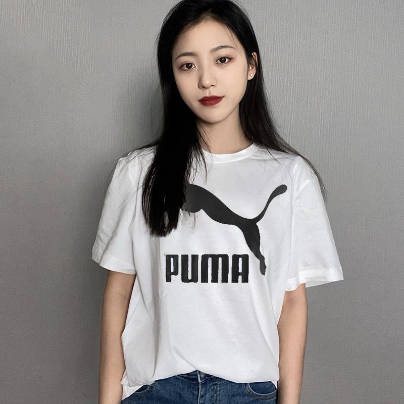 彪马PUMA 女装 2021春季新款运动跑步训练快干透气舒适休闲短袖T恤 532281-02