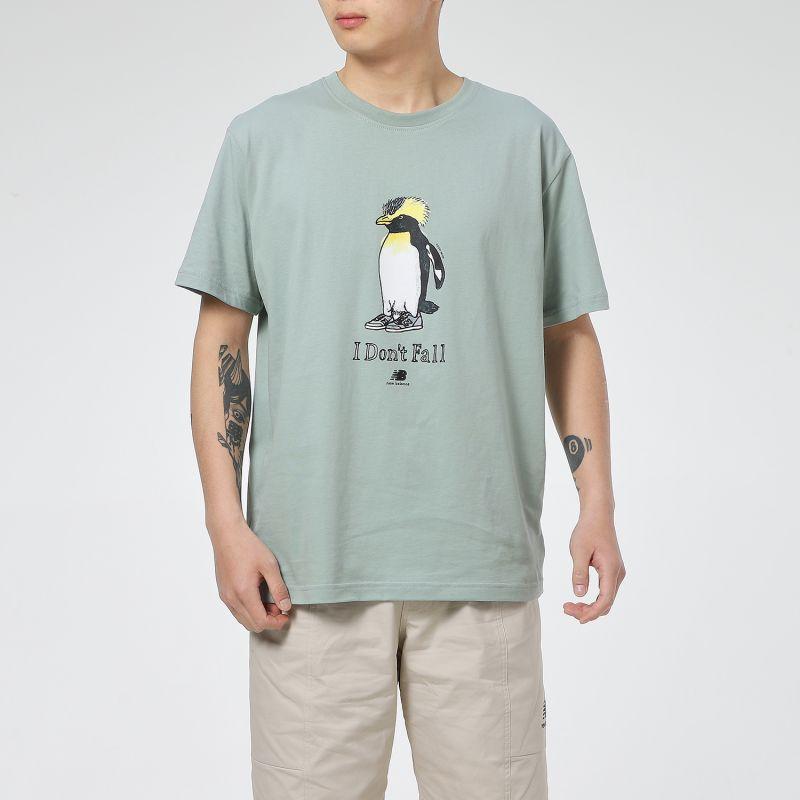 NEW BALANCE 男女 经典logo百搭短袖T恤 AMT12340-LIH
