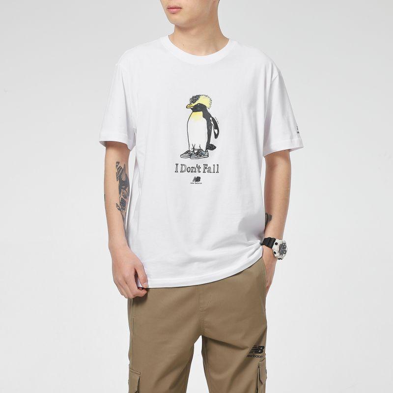 NEW BALANCE 男女 经典logo百搭短袖T恤 AMT12340-WT