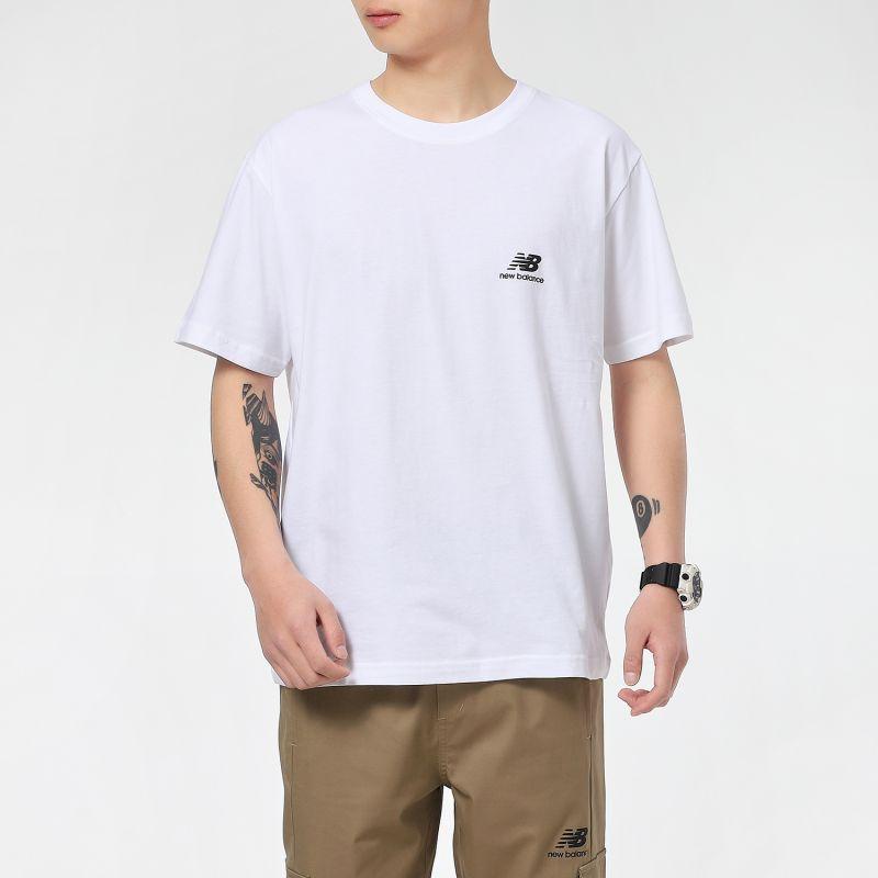 NEW BALANCE 男女 经典logo百搭短袖T恤 AMT12342-WT