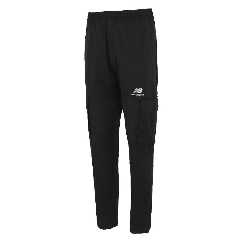 NEW BALANCE 男装 2021新款简约经典百搭时尚休闲Logo梭织长裤 AMP12397-BK