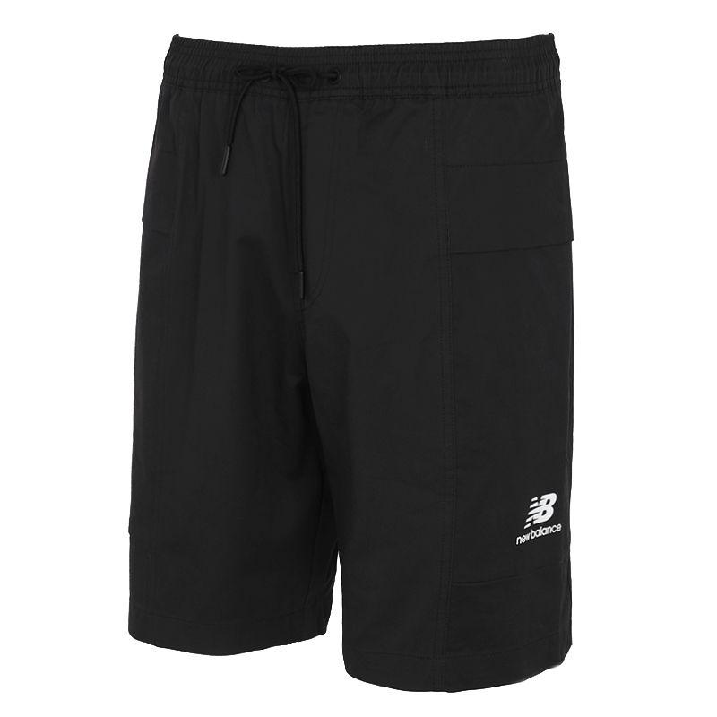NEW BALANCE 男女 2021新品运动休闲跑步梭织短裤 AMS12345-BK
