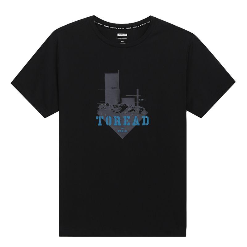 探路者TOREAD 男装 运动时尚休闲户外短袖T恤 TAJI81921-G01X