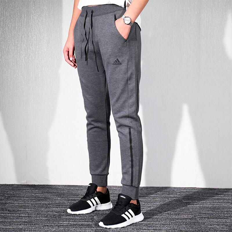 Adidas阿迪达斯  女裤 运动裤跑步训练收口休闲长裤DX7190