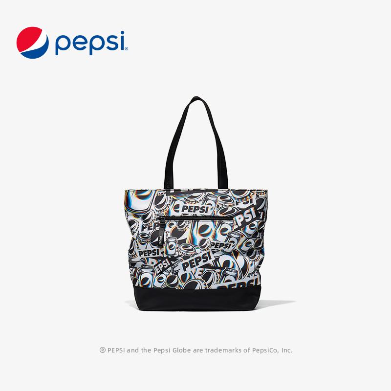 Pepsi百事大满罐手提包女包2021春季新款运动休闲包斜挎手拎包男 BB01A203044DFWL