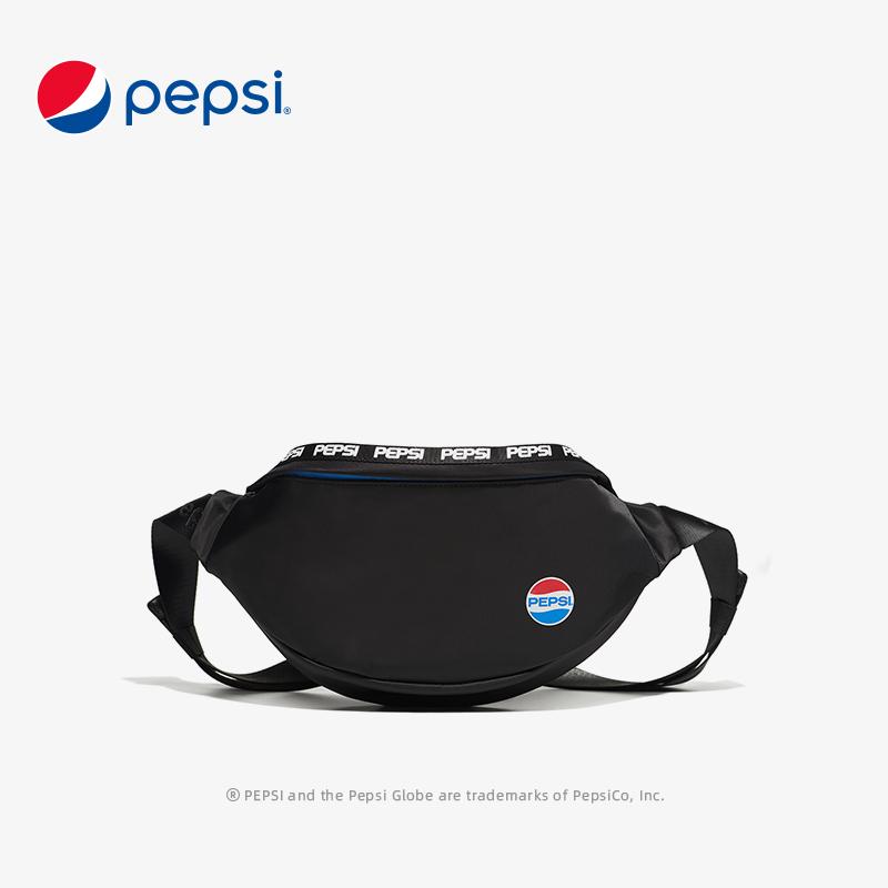 Pepsi百事腰包男2021春季新款休闲轻便单肩包女运动旅游手机包 BB12A203025K1WL