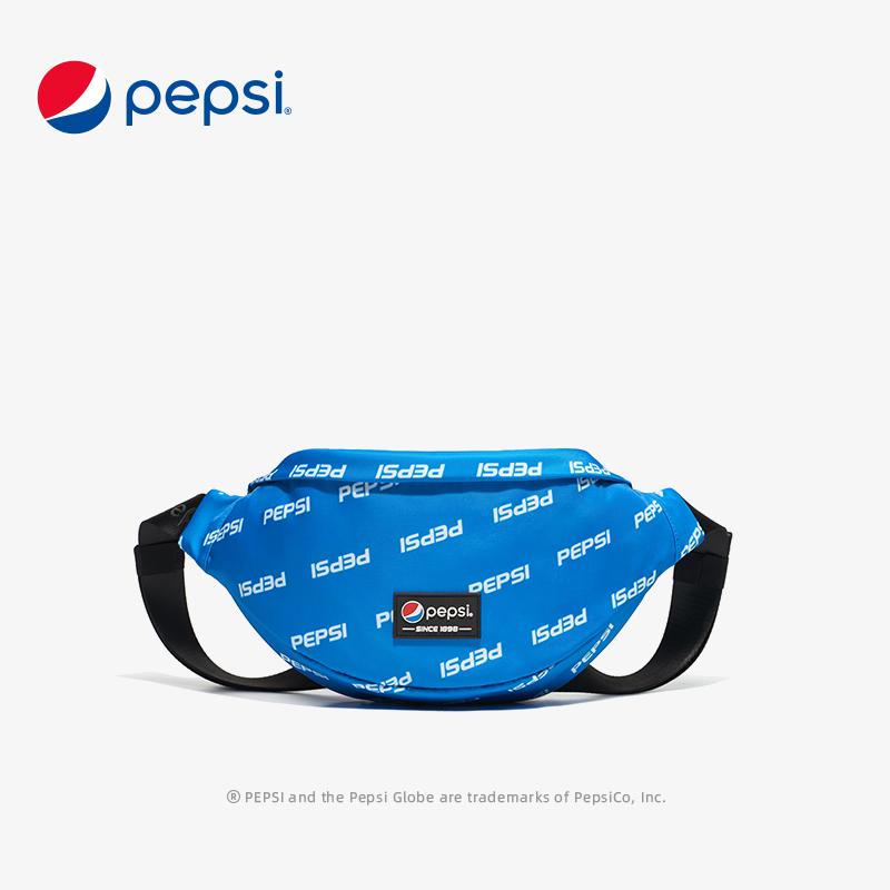 Pepsi百事腰包男2021春季新款轻便斜挎包运动旅游便携手机单肩包 BB12A203028BBWL