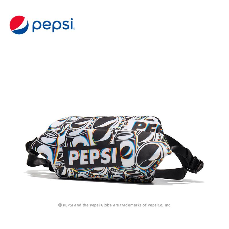 Pepsi百事腰包男2021春季新款轻便休闲斜挎包女运动便携单肩包 BB12A203046DFWL
