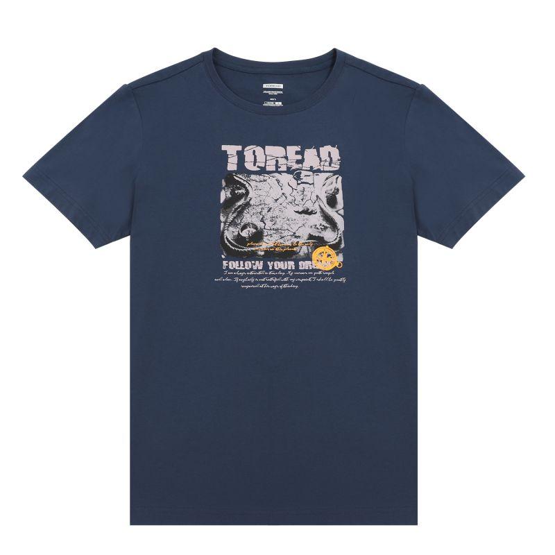 探路者TOREAD 男装 运动时尚休闲户外短袖T恤 TAJJ81733-C82X