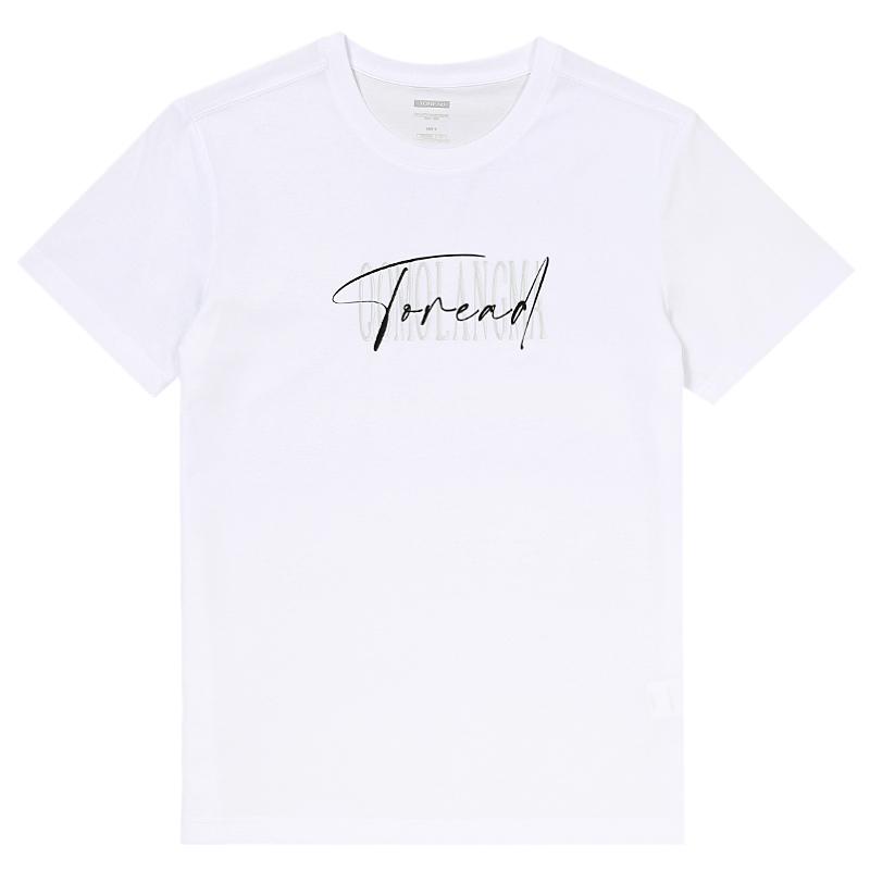 探路者TOREAD 男装 运动时尚休闲户外短袖T恤 TAJJ81737-G65X
