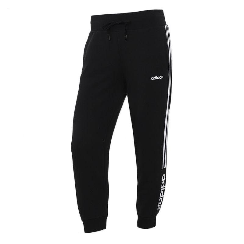 阿迪达斯生活Adidas NEO 女子 2021夏季舒适透气运动休闲梭织长裤  H61986