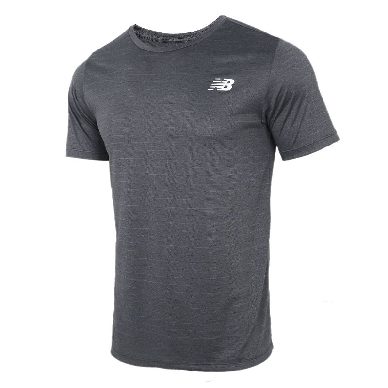 NEW BALANCE 2021夏季新款运动服圆领休闲透气T恤跑步训练健身短袖AMT01012-BK