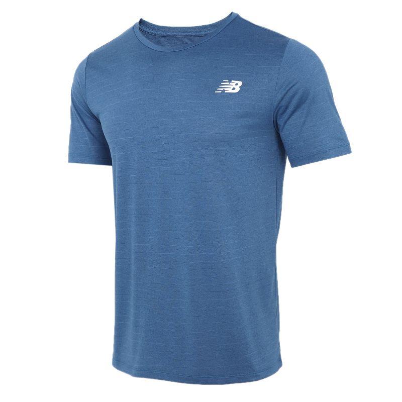 NEW BALANCE 2021夏季新款运动服圆领休闲透气T恤跑步训练健身短袖 AMT01012-CNB