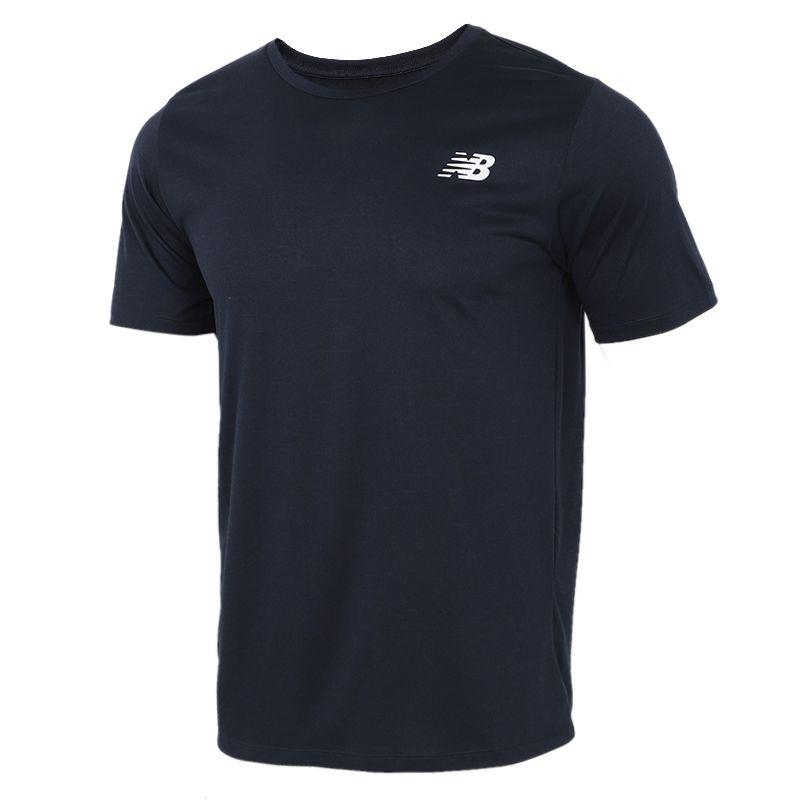 NEW BALANCE 男子 2021夏季新款健身训练透气宽松短袖T恤  AMT01012-ECL