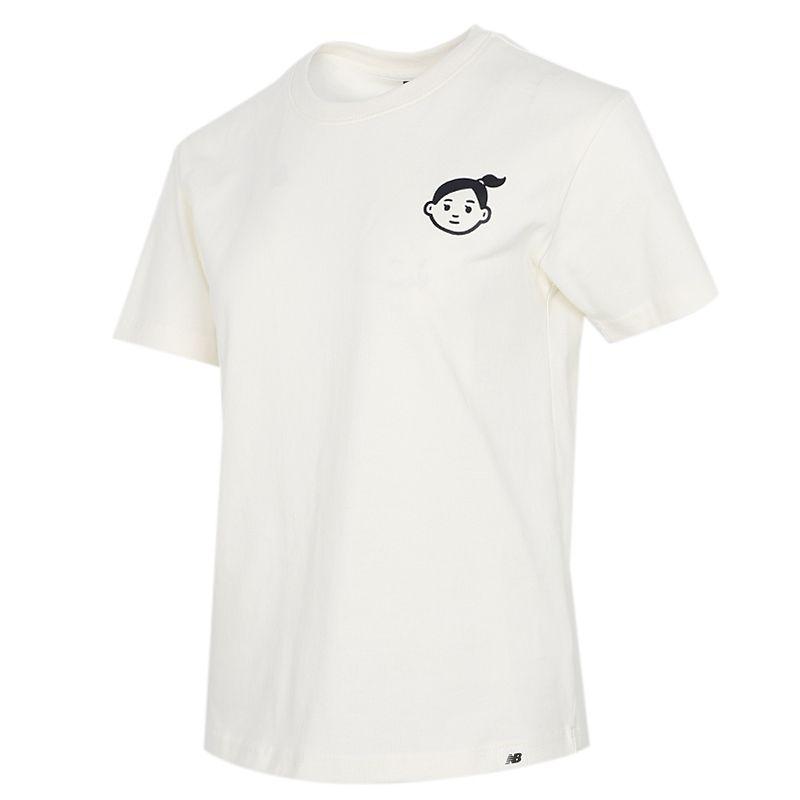 NEW BALANCE 女子 2021夏季新品运动服跑步训练透气舒适休闲圆领短袖T恤 AWT12333-RSI