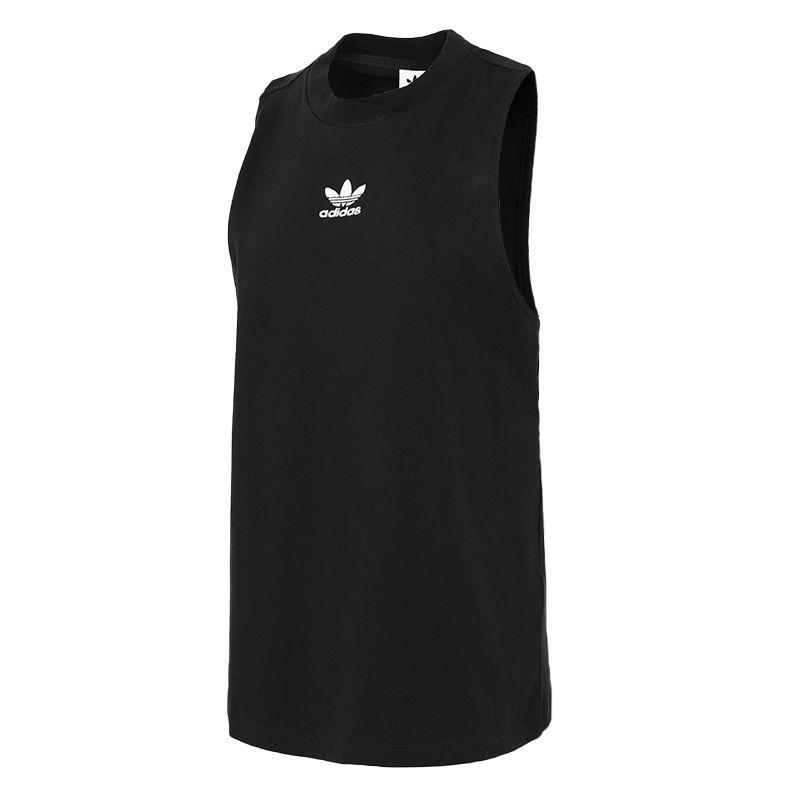 阿迪达斯三叶草ADIDAS 女子 2021夏季新品运动服跑步训练透气休闲无袖t恤针织背心 GN2884