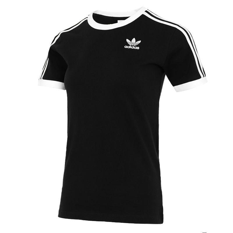 阿迪达斯三叶草ADIDAS  女子 2021夏季新款官方跑步运动健身训练时尚舒适休闲圆领短袖T恤 GN2900
