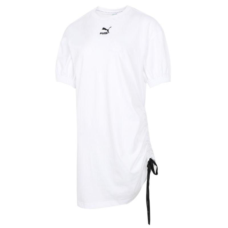 彪马PUMA 女子 2021夏季新品运动休闲透气时尚短袖长款T恤 532632-02