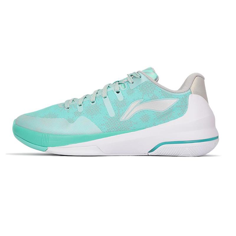 李宁LI-NING 男子 2021新款闪击3低帮篮球鞋薄荷CBA赞助款减震碳板运动鞋 ABAP127-1