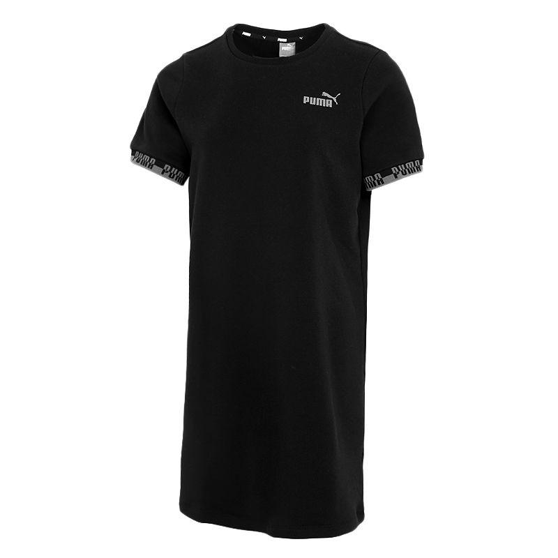 彪马PUMA 女子 2021夏季新款运动休闲透气时尚短袖长款T恤 845586-51
