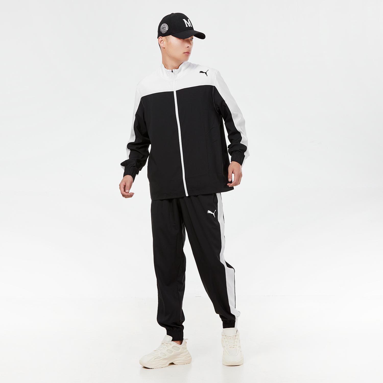 彪马PUMA 男女 2021夏季新款运动裤跑步训练健身舒适快干透气休闲套装 521043-01