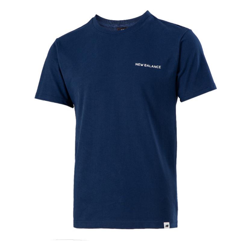 NEW BALANCE 男女 2021夏季新款情侣圆领柔软舒适透气跑步短袖T恤衫 AMT12391-ECL