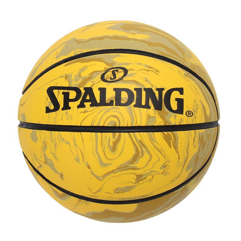 斯伯丁SPALDING 男女橡胶球迷你篮球模型儿童玩具桌面摆件室内室外篮球 51-330Y