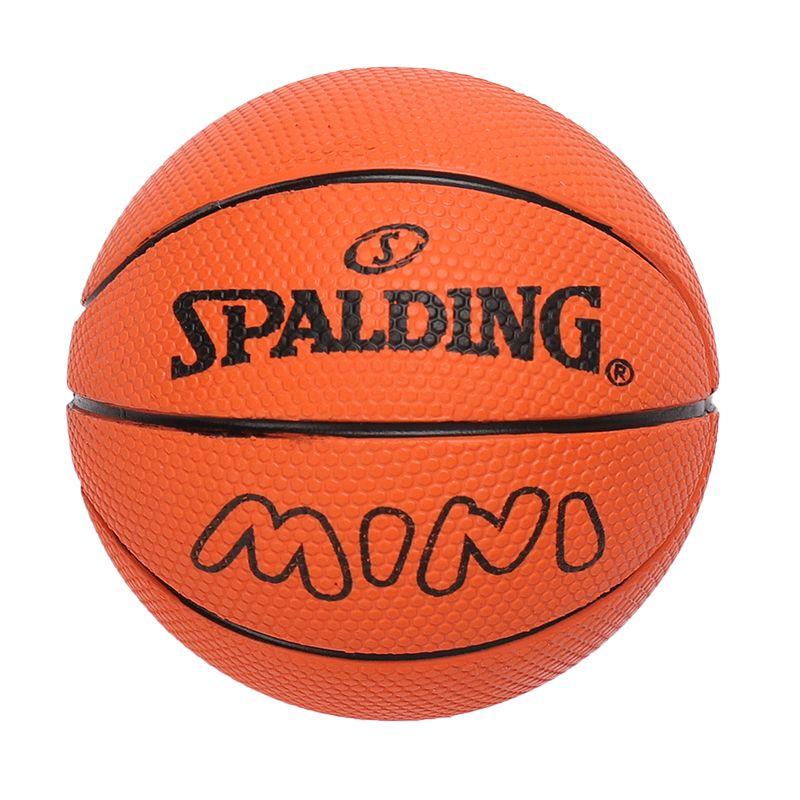 斯伯丁SPALDING 高弹力幼儿小篮球橡胶儿童玩具礼品1号小皮球nba摆件 51-337Y