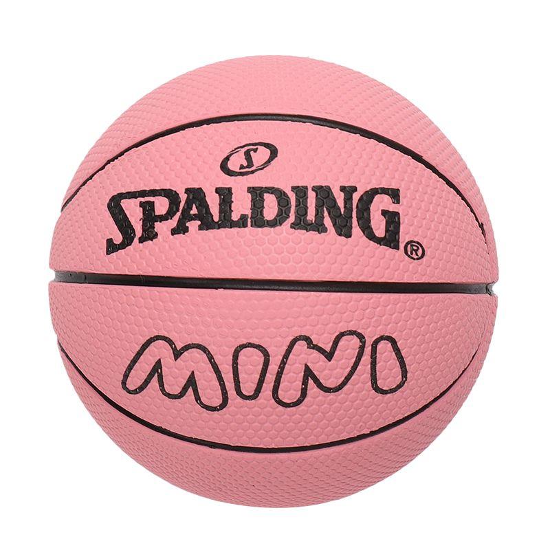 斯伯丁SPALDING 高弹力幼儿小篮球橡胶儿童玩具礼品1号小皮球nba摆件 51-338Y