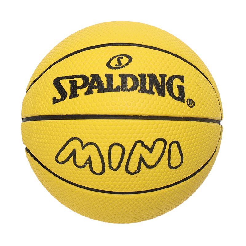 斯伯丁SPALDING 高弹力幼儿小篮球橡胶儿童玩具礼品1号小皮球nba摆件 51-341Y