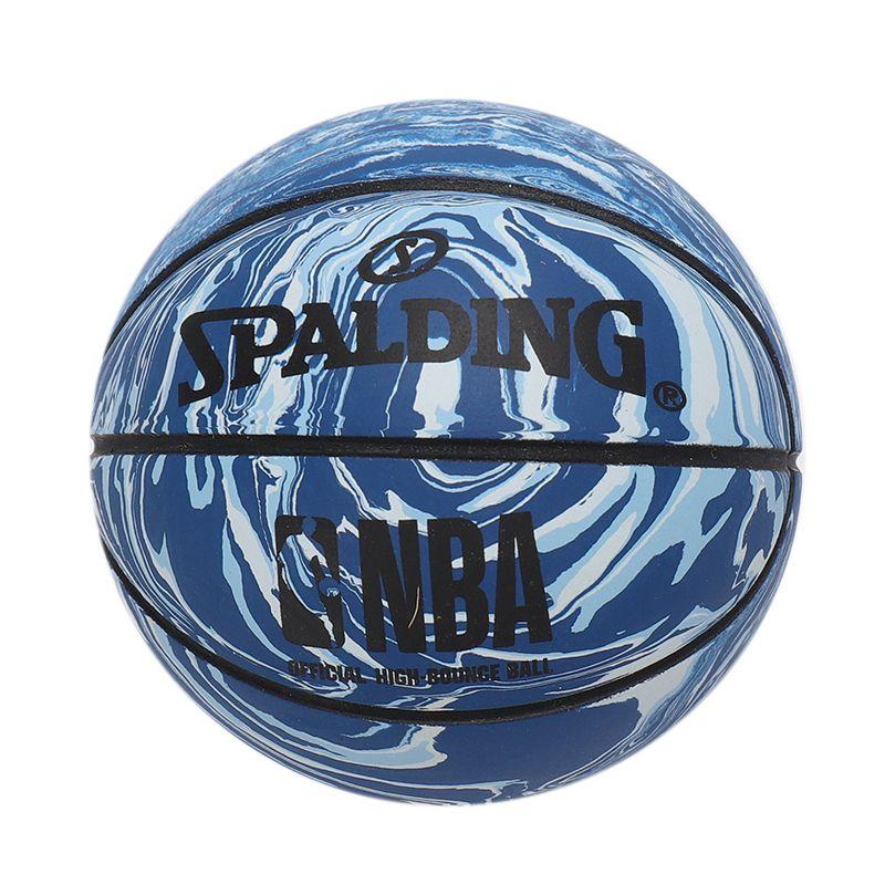 斯伯丁SPALDING 高弹力幼儿小篮球橡胶儿童玩具礼品1号小皮球nba摆件球 51-286Y