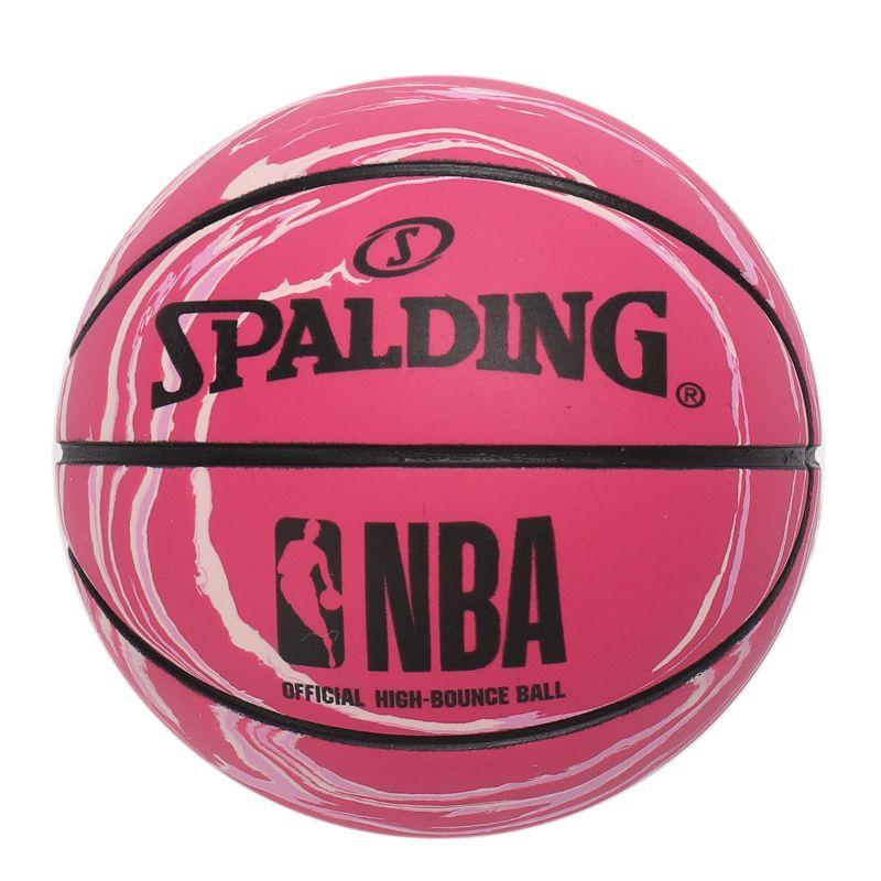 斯伯丁SPALDING 高弹力幼儿小篮球橡胶儿童玩具礼品1号小皮球nba摆件 51-287Y